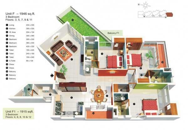 Desain Rumah Yang Ideal Dengan 3 Kamar Dan Taman