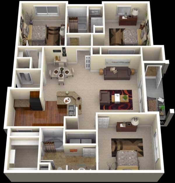 Sketsa Rumah Minimalis Dengan 3 Kamar