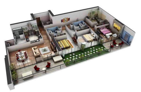 Gambar Rumah Dengan Ruang Santai Minimalis