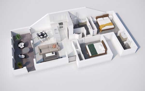 Denah Rumah Type 36 Minimalis