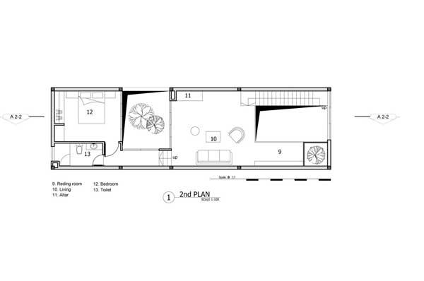 Denah Minimalist House lantai 2