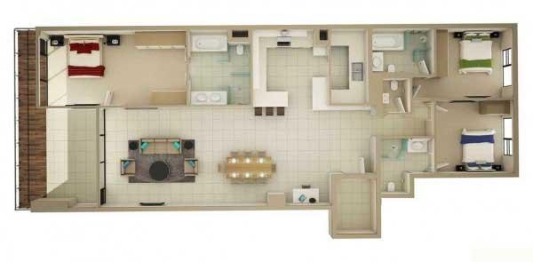 Desain Rumah Compact Dengan 3 Kamar