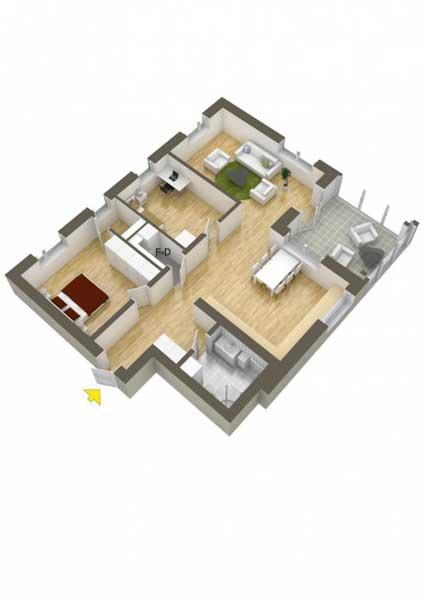 Denah Rumah Type 36 1 Kamar