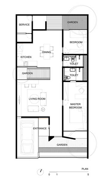 Denah Rumah Minimalis 1 Lantai DG House