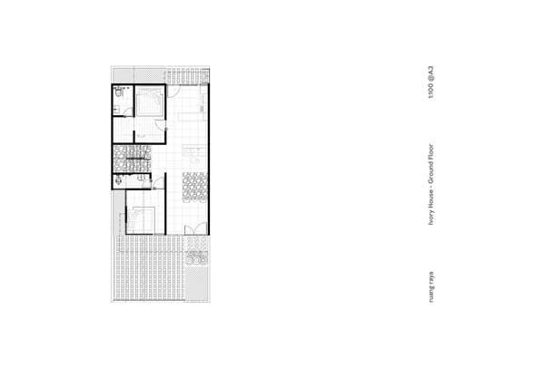 Denah Rumah Mewah Minimalis Ivory House