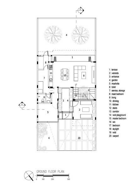 Denah Rumah 2 Lantai Industrial 2nd floor