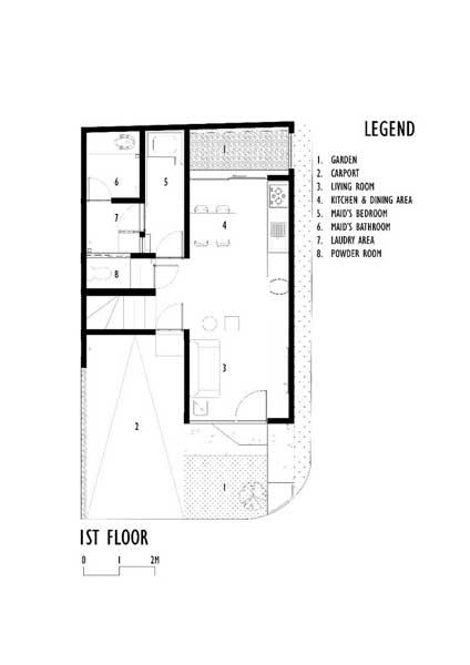 denah linaya house 1st floor