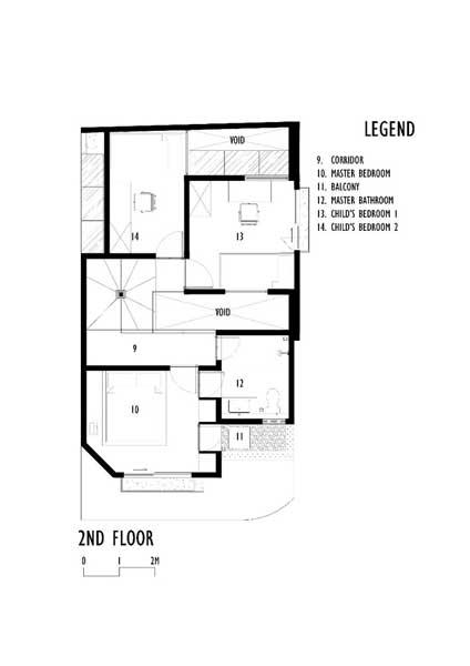 denah linaya house 2nd floor