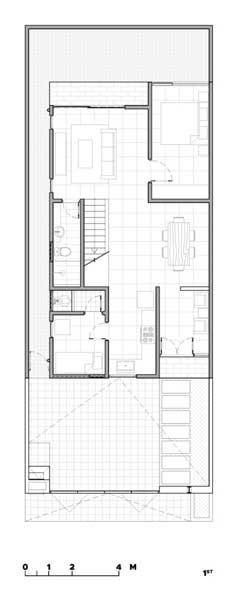 Denah Rumah 2 Lantai Modern Minimalis 1st floor