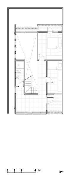 Denah Rumah 2 Lantai Modern Minimalis 2nd floor