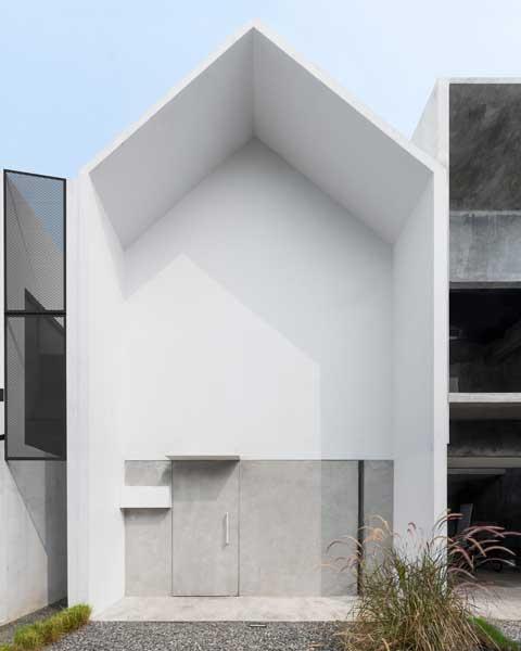 Model Rumah Minimalis 2 Lantai Mo House Tampak Depan