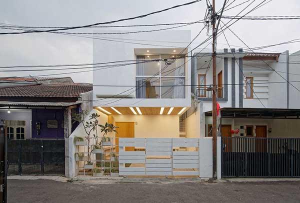 Model Rumah Minimalis Modern Splow House Tampak Depan