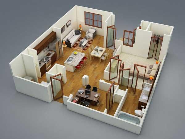 Desain Apartemen Modern Minimalis