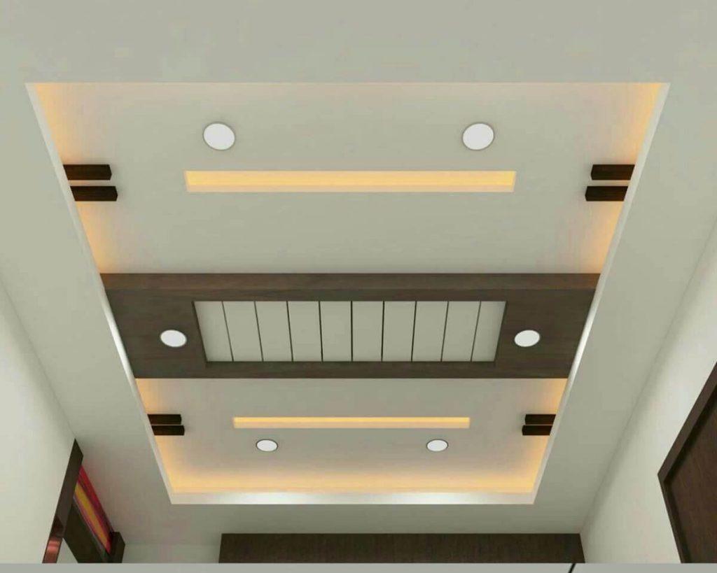 model plafon pvc ruang tamu unik
