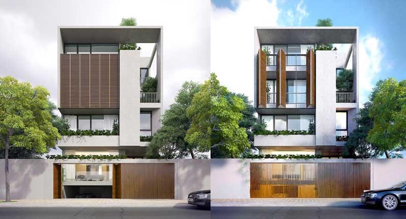 Fasad Minimalis 3 Lantai