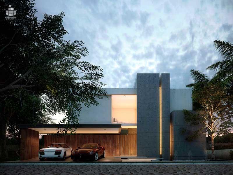 Rumah Mewah Dengan Garasi Mobil