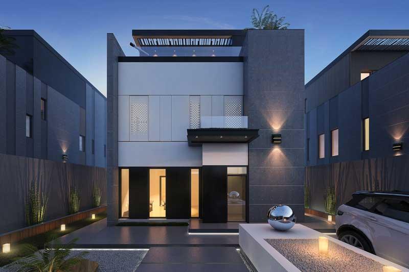 Tampak Depan Rumah Minimalis 2 Lantai Lebar 10 Meter
