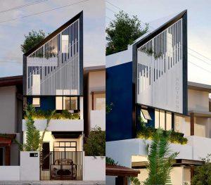 desain tampak depan rumah minimalis, modern dan mewah
