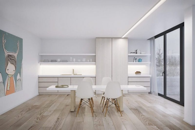 Ruang Makan dengan 4 Kursi Sederhana