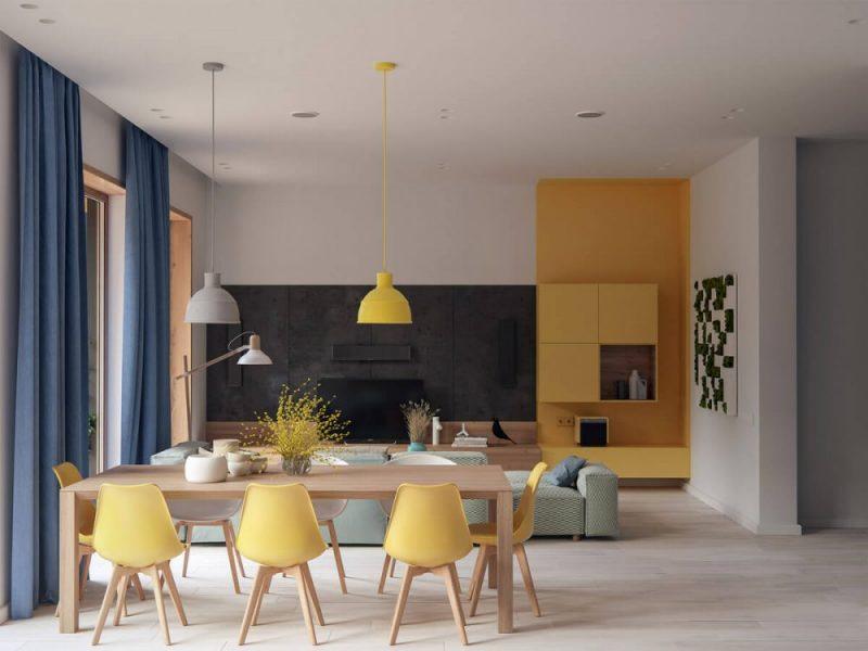 Desain Meja Dan Kusi Kuning