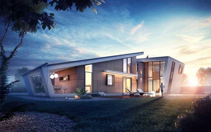 Tampak Depan Rumah Minimalis 2d