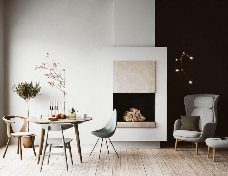 Ruang Makan Meja Skandinavian