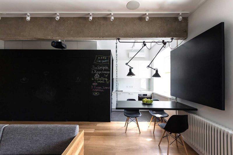 Desain Minimalis Industrial Ruang Makan