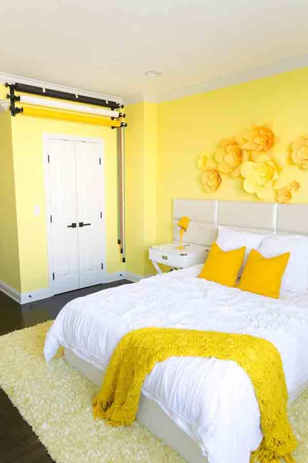Yellow bedroom colors