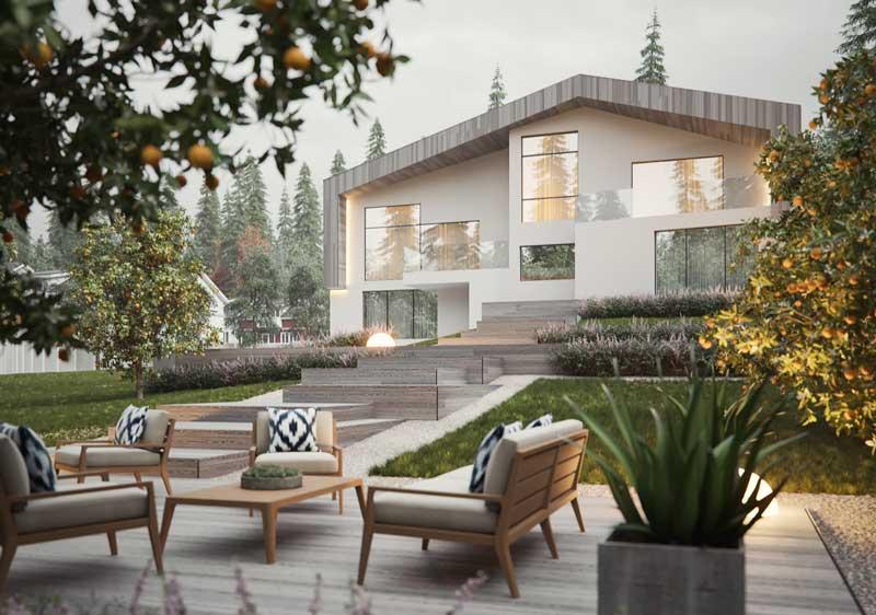 Tampak Depan Rumah Modern 2 Lantai