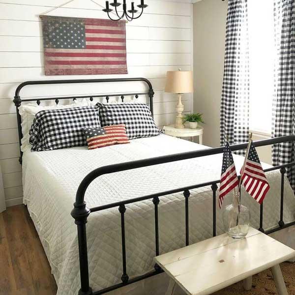 Farmhouse style guest bedroom design