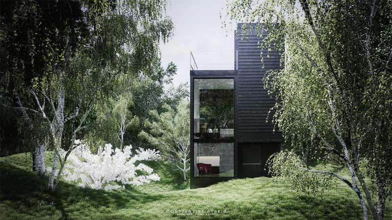 Desain Fasad Rumah Compact