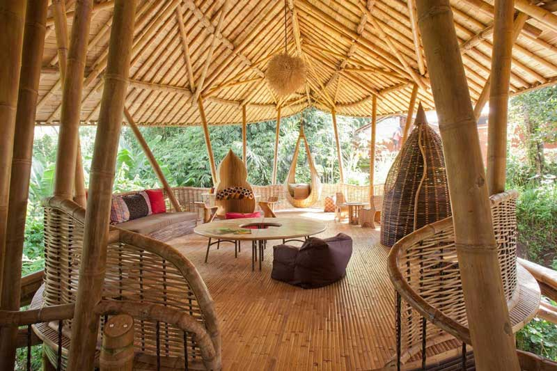 interior Rumah Bambu IBUKU