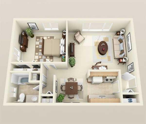 Desain apartemen Untuk Pasangan Muda