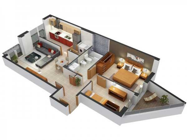Desain 2 Kamar Modern Minimalis