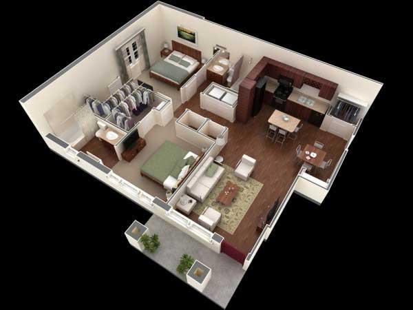 Desain 2 Bedroom