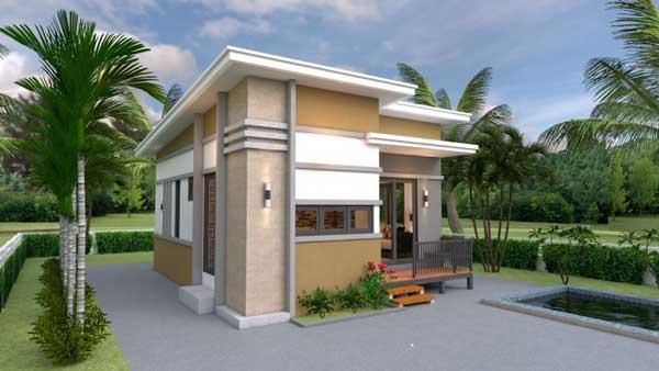 desain rumah ukuran 6x8 type sederhana