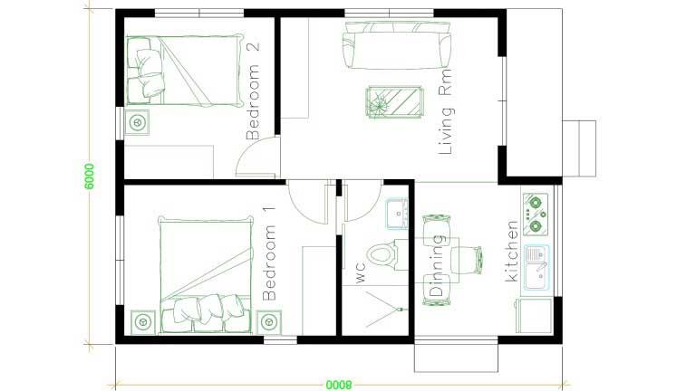 20 Model Rumah Sangat Sederhana Lengkap Dengan Denah