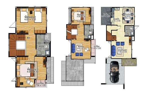 denah rumah ukuran 6x15