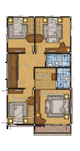 lantai 2 rumah ukuran 7x12
