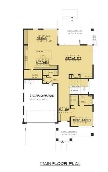 Sketsa Rumah Modern Minimalis lantai 1
