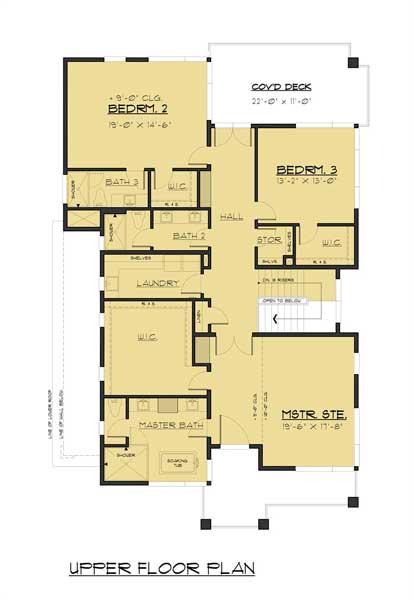 Sketsa Rumah Modern Minimalis lantai 2