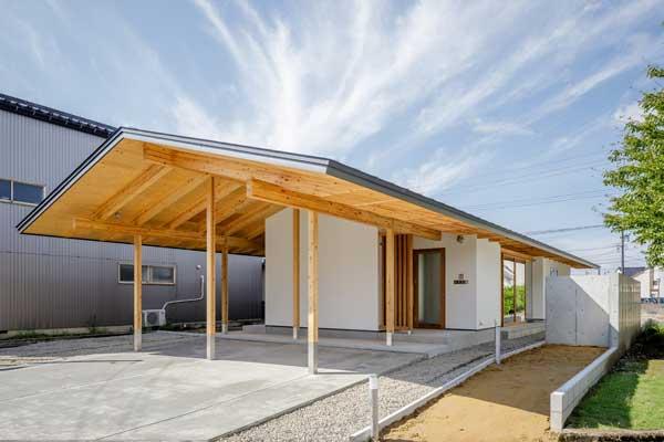model rumah sangat sederhana Jepang 1 lantai