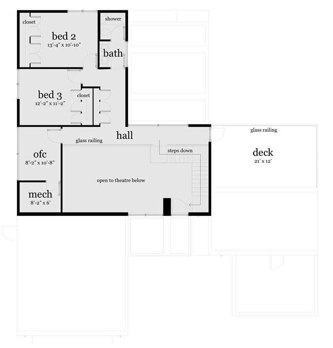 Denah Rumah Dengan Kolam Renang lantai 2