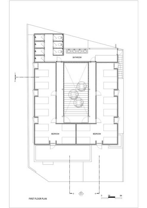 Sketsa Rumah Kost Lantai 1