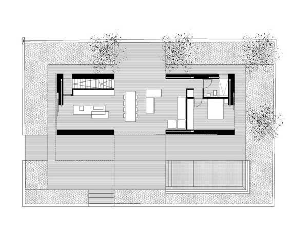 denah rumah mewah GT House lantai 1