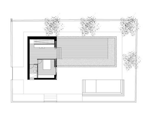 denah rumah mewah GT House lantai 2