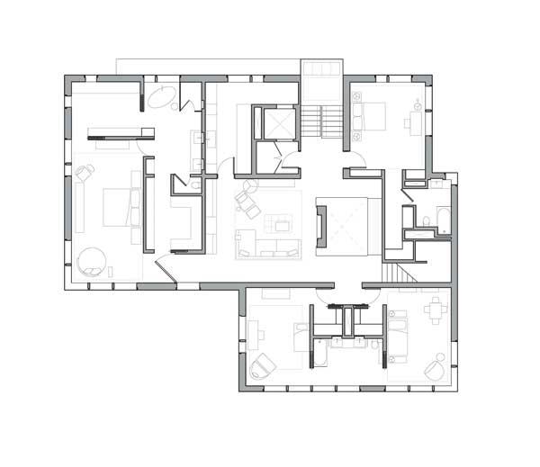 Denah rumah mewah Wellesley lantai 3