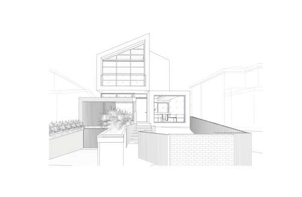 tampak depan rumah minimalis Kellett Street House
