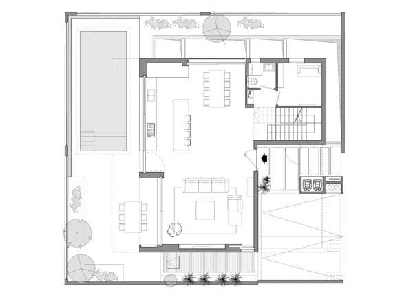 denah The Urban House lantai 1