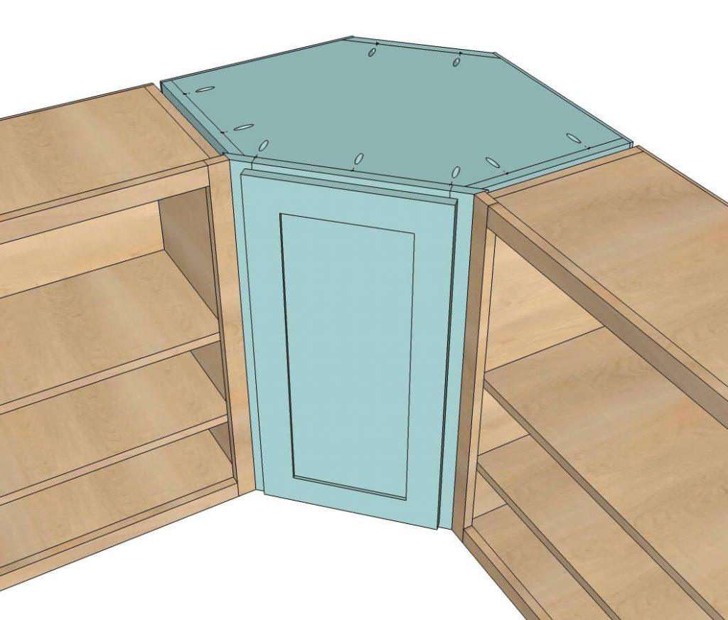 lemari sudut dapur